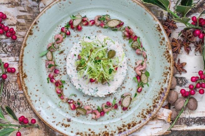 Y&A Cornish crab salad_ brown shrimps_ caper _ pomegranate vinaigrette _8_