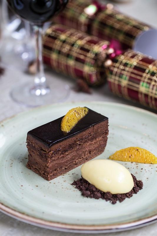 AValrhona chocolate delice_ clementine sorbet _1_