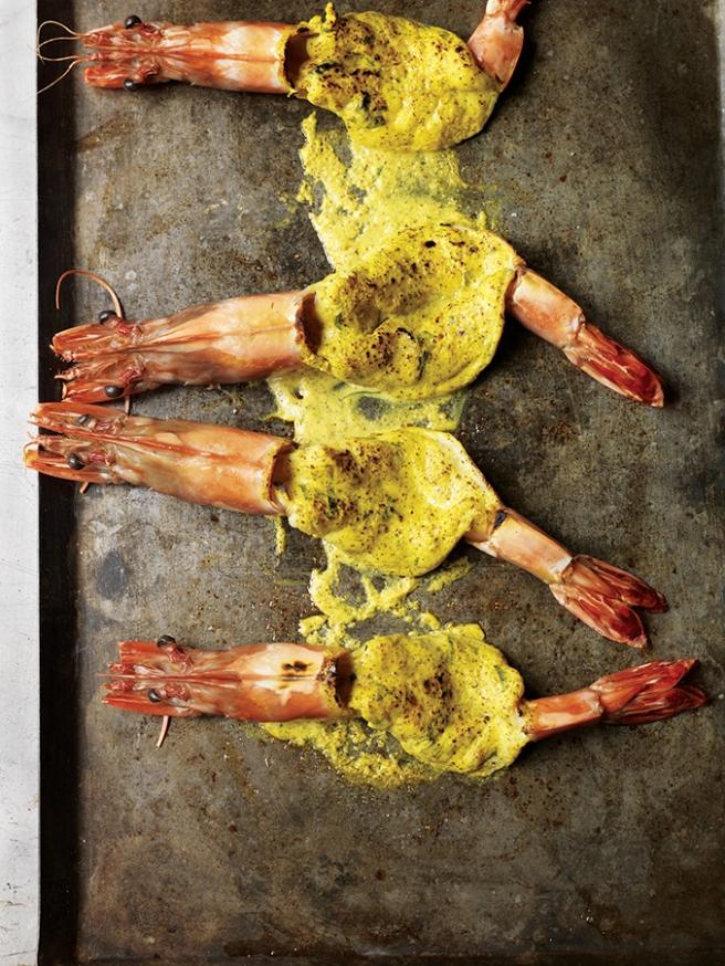 Tandoori king prawns with coconut & mustard curry, ghee rice LR.jpg
